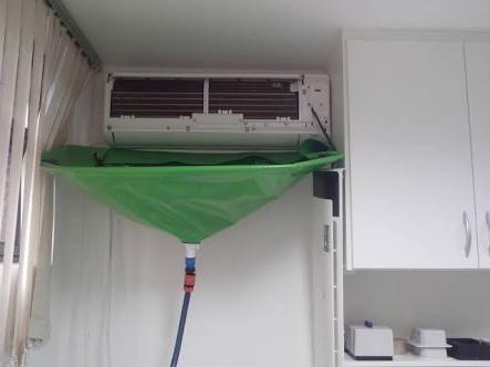 Coletor de resíduos para higienização de ar condicionado